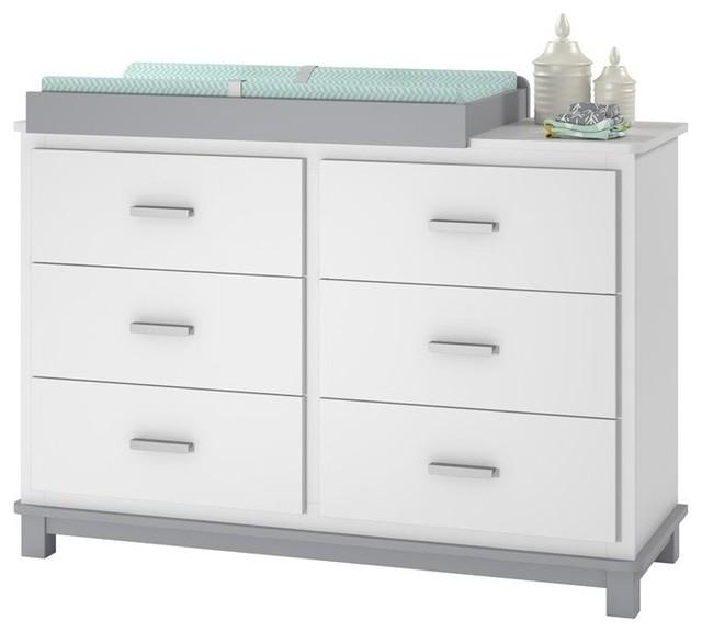 Ameriwood Cosco Leni 6 Drawer Dresser Changing Table