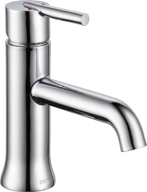 Delta trinsic single handle faucet less pop up - Delta contemporary bathroom faucets ...