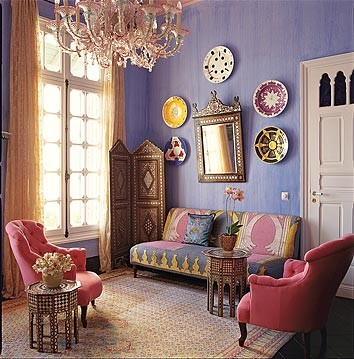 purple living room by dominomag eclectic living room