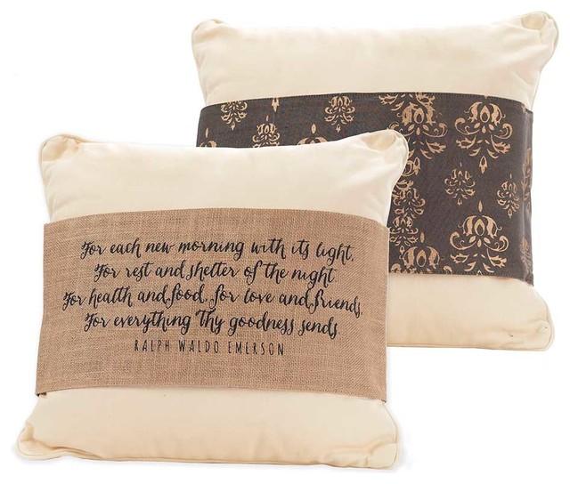"""Everything Thy Goodness Sends"" Pillow Wrap modern-decorative-pillows"