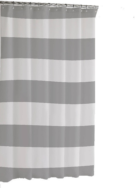 black and white striped shower curtain. Hampton Stripe Shower Curtain  Gray contemporary shower curtains Contemporary