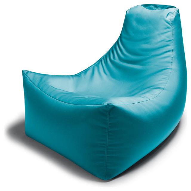 Juniper Outdoor Bean Bag Chair Light Blue Contemporary Chairs