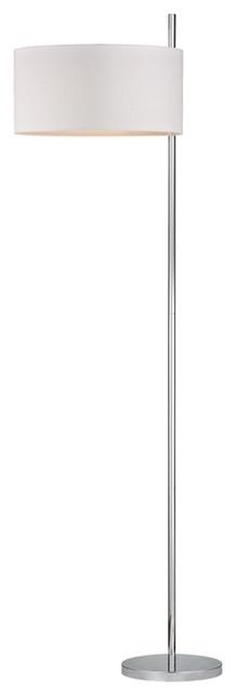 Attwood 1-Light Floor Lamp In Polished Nickel.