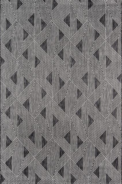 Novogratz Sardinia Indoor/outdoor Rug, Charcoal 3&x27;11x5&x27;7.