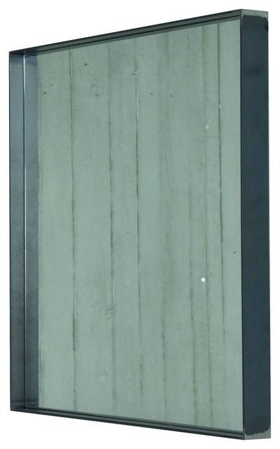 Donna 2 Mirror, Blacksmith Grey, 60x60 cm