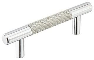 Emtek Silver Carbon Fiber Bar Pull - Contemporary ...