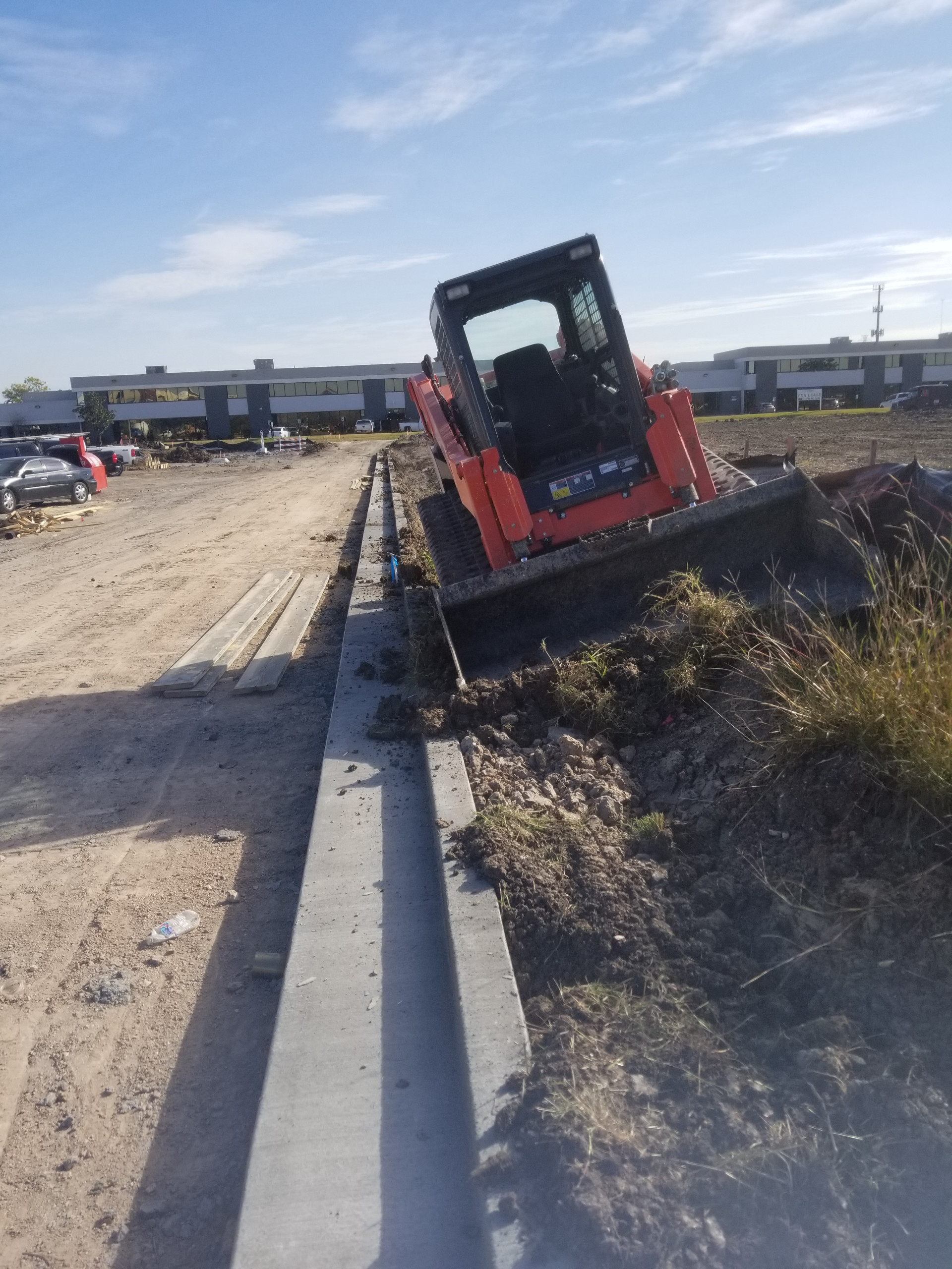 New Parking lots with retention
