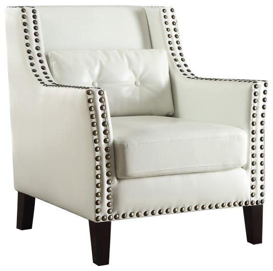 Coaster Accent Chair, Dark Brown Finish 902225.