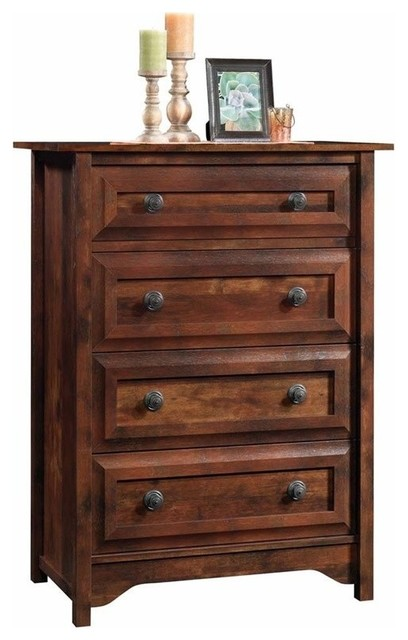 Pemberly Row 5 Drawer Chest in Cherry