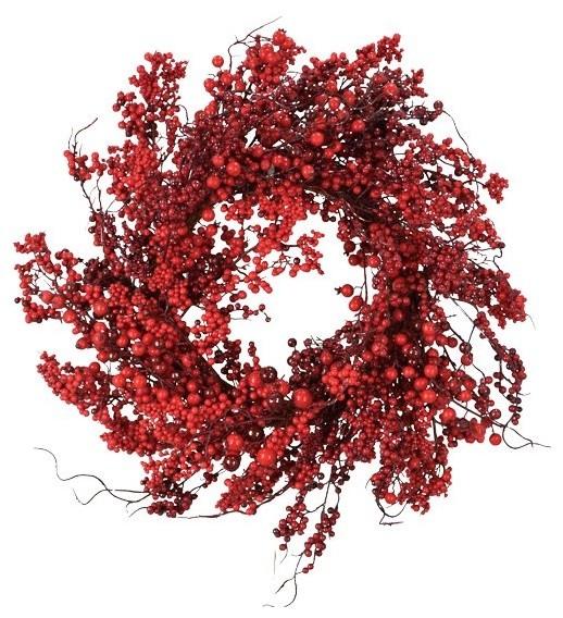 """Berry Wreath, 22""""."""