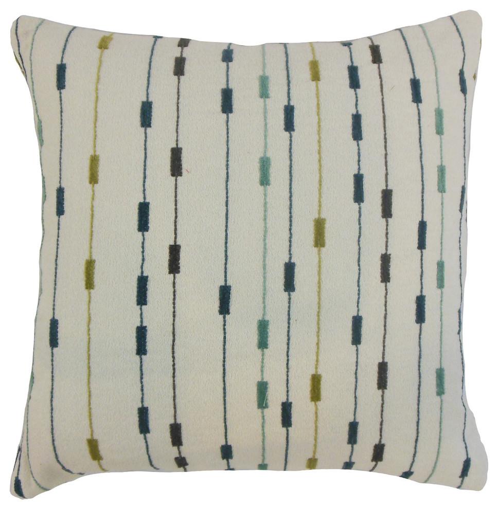The Pillow Collection Raith Stripes Bedding Sham Tamale King//20 x 36