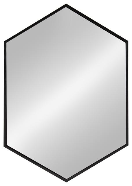 Kate and Laurel, McNeer Large Hexagon Metal Wall Mirror, 31\