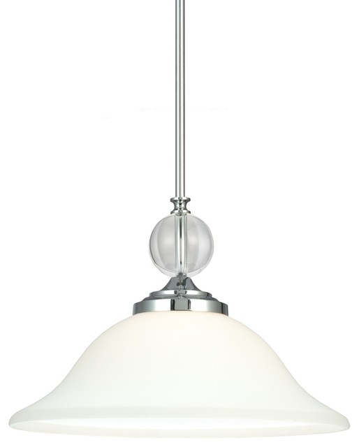1-Light Englehorn Pendant, A19/100w.