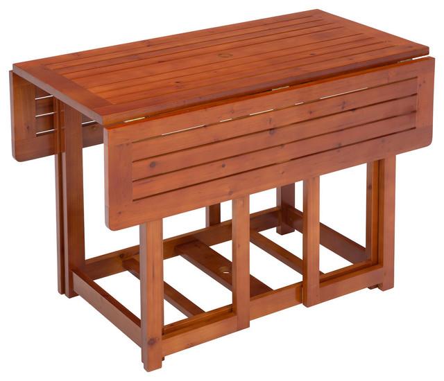 "Jack Post 48.50""x26.50"" Warm Brown Folding Table."