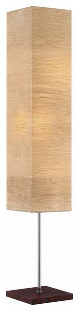 Revel Nori 58 Floor Lamp, Bright 18w Led (6w X 3), Light Brown Paper Shade.