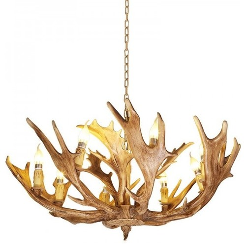 How About This Antler Chandelier For Dining Room
