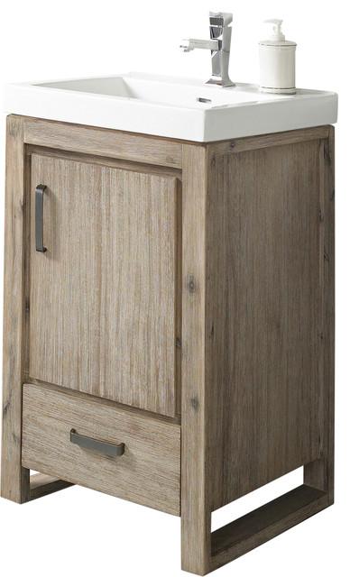 Single Vanity Sand Pebble Base Cabinet