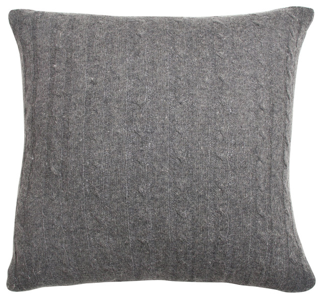 Enjoyable Kimberly Knitted Wool Charcoal Throw Pillow Theyellowbook Wood Chair Design Ideas Theyellowbookinfo