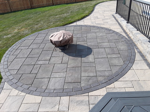 Deck And Belgard Paver Patio