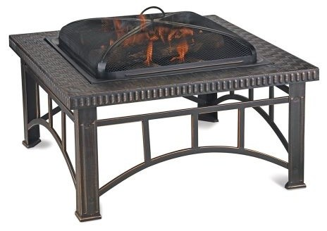 Blue Rhino Wad15143mt Wood Burning Outdoor Firebowl In Brushed Copper Traditional Fire Pits By Chimney