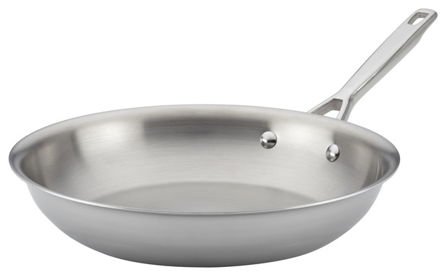 """Anolon Tri-Ply Clad Stainless Steel French Skillet/fry Pan, 12.75""""."""