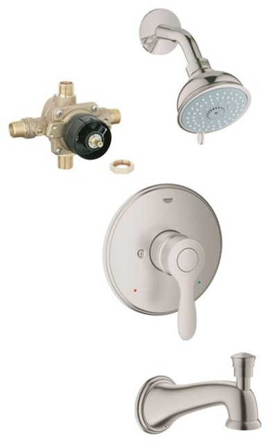 Parkfield Tub Shower Combo Contemporary Tub And Shower Faucet Sets By T
