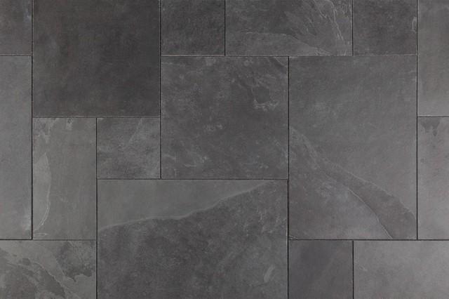 Janeiro Slate Tiles Versailles Montauk Black Slate