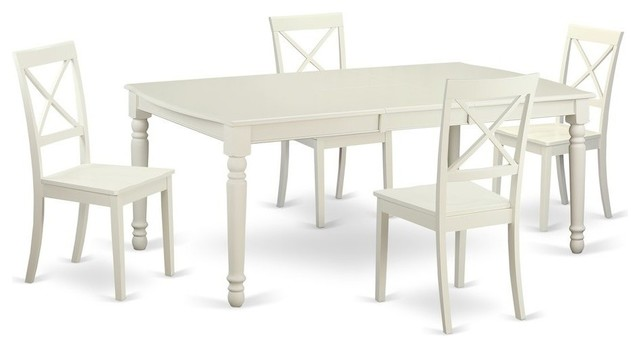 5-Piece Dinette Set , Kitchen Table And 4 Dining Chairs by East West Furniture