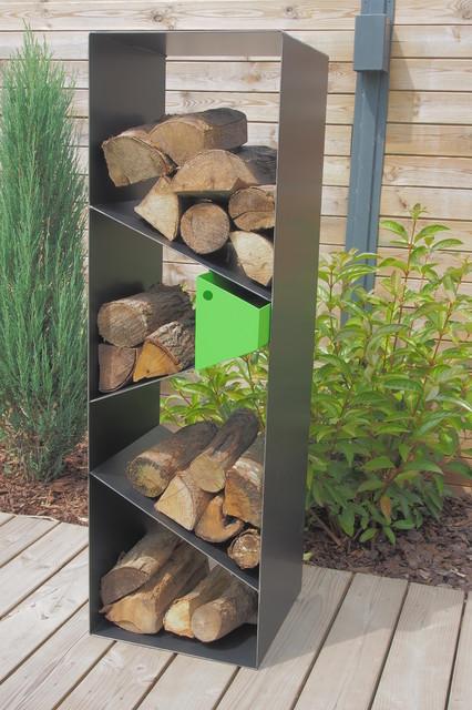 Range b ches colonne industriel lille par encrea - Support buches de bois ...