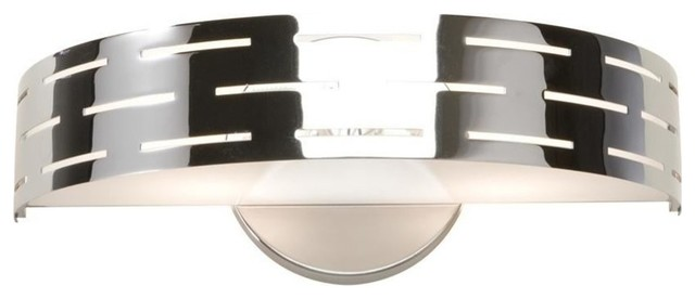 Artcraft Seattle Wall Bracket Chrome Contemporary Bathroom Vanity Lighti