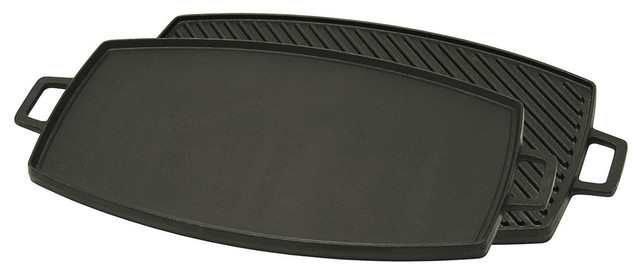 Bayou Classic 18&x27;&x27; Cast Iron Reversible Griddle.