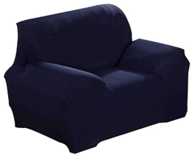 Modern Stretch Sofa Slipcover Non-Slip, Dark Blue