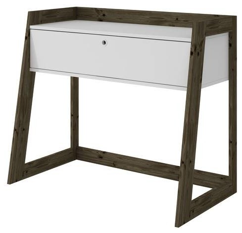Mid Century Modern Entryway Console Table 2 Drawer