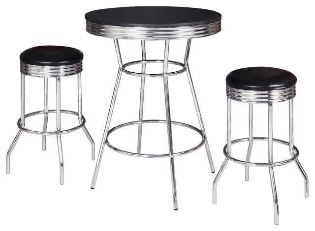 Remington 3 Piece Pub Table Set Industrial Indoor Pub