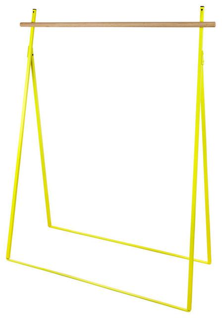 Yaco Folding Clothes Rack, Yellow.