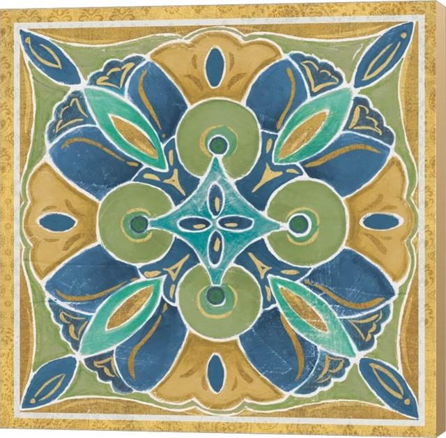 Free Bird Mexican Tiles I by Daphne Brissonnet Canvas Art, 24x24