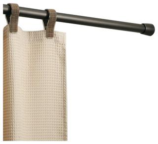 Shower Bath Bathroom Interdesign Cameo Curtain Tension Rod Bronze 26-42 Inch New