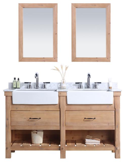 Marina 60 Bathroom Vanity Driftwood, 60 Bathroom Mirror