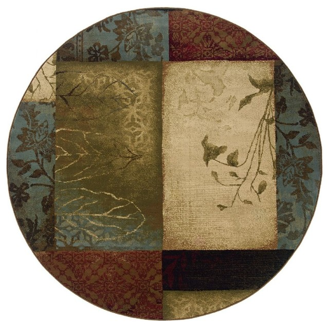 Oriental weavers contemporary hudson area rug view in for Round contemporary area rugs