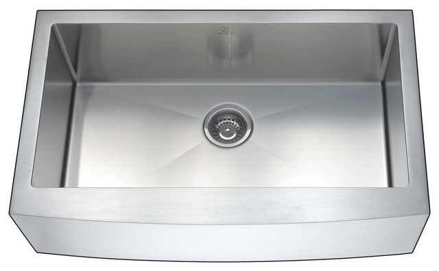 Anzzi Elysian Farmhouse Stainless Steel 36 In. Kitchen Sink With Harbour Faucet.