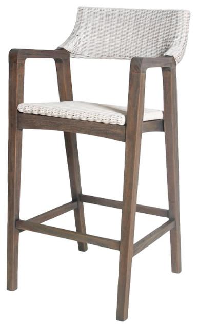 Urbane Dining Bar Chair Ebony Old Gray
