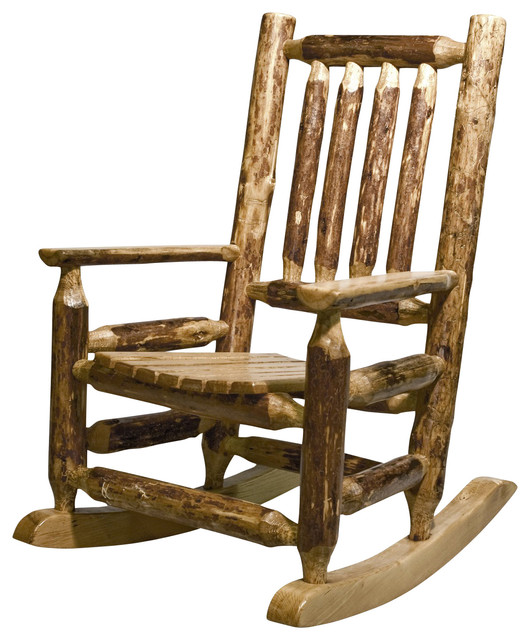 Montana Woodworks Childu0027s Log Rocking Chair In Glacier Country
