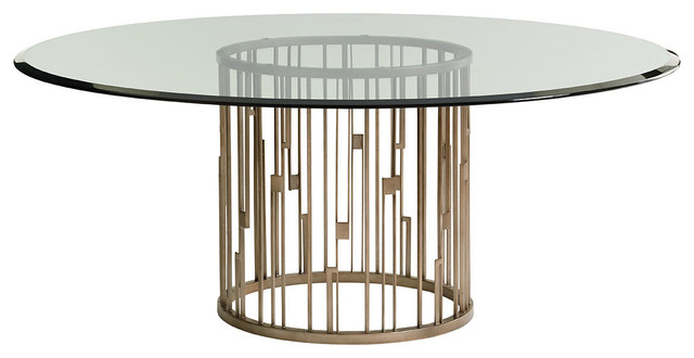 Rendezvous Round Dining Table With 72 Quot Glass Top