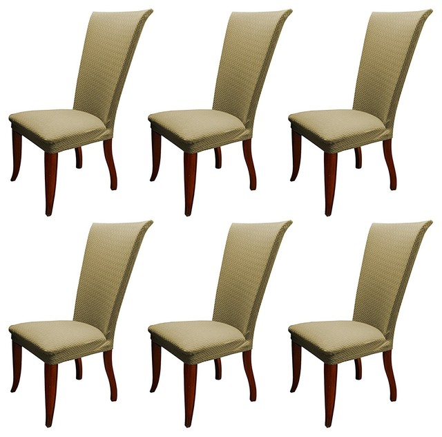 Basket Weave Stretch Dining Room Chair Slipcover