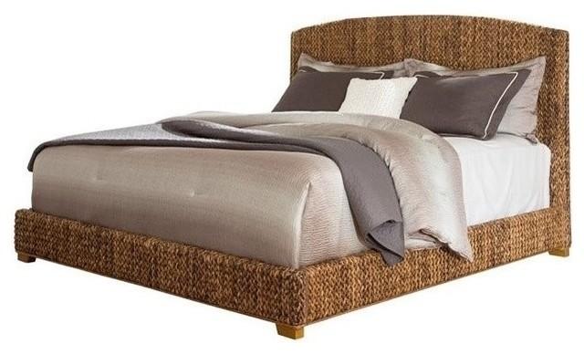 Coaster Laughton Queen Banana Leaf Bed Dark Brown Panel Beds Houzz