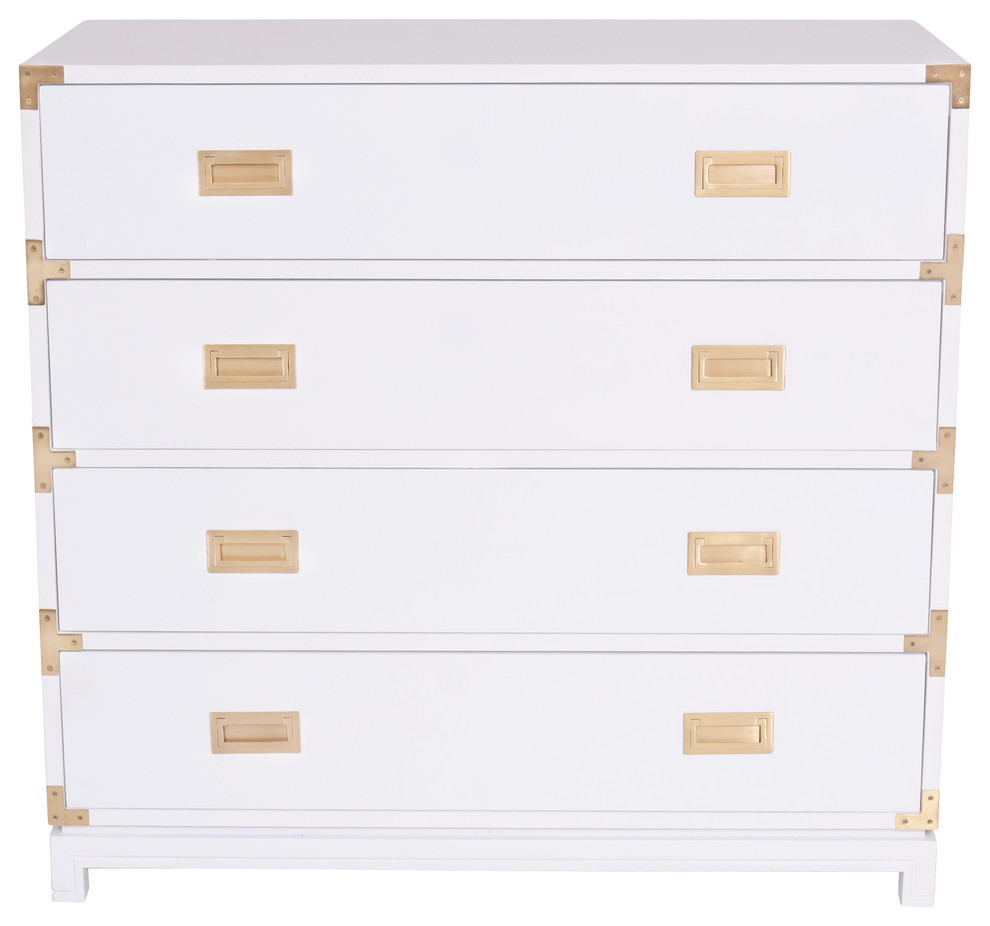 Large Carlyle Campaign Dresser, White