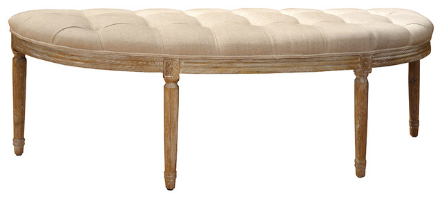 Brilliant Tufted Half Round Bench Andrewgaddart Wooden Chair Designs For Living Room Andrewgaddartcom