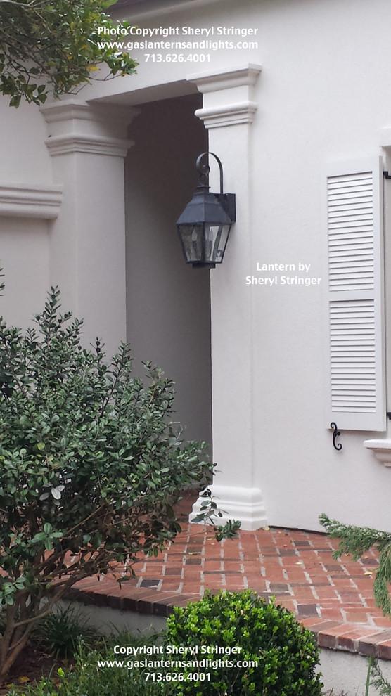 Sheryl's French Style Electric Lantern with Dark Patina Finish