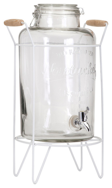 hamilton glass jar drink dispenser with stand dispensers - Beverage Dispenser With Stand