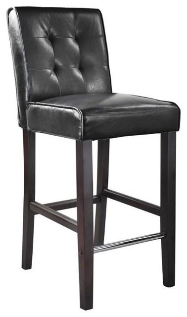 Corliving Antonio 31 Quot Bonded Leather Bar Stool In Black